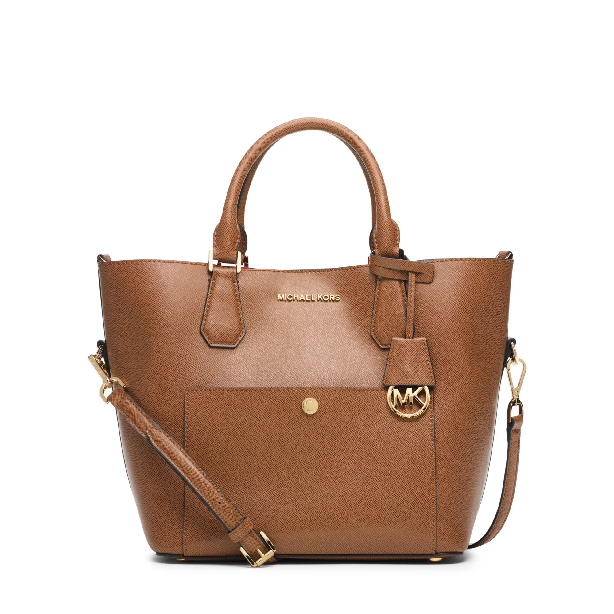 lyst michael kors greenwich large saffiano leather