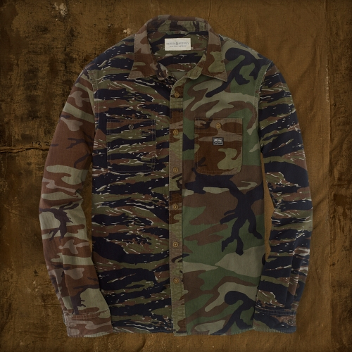 b1bd6782a4fe2 Denim & Supply Ralph Lauren Patched Camouflage Sport Shirt in Green ...