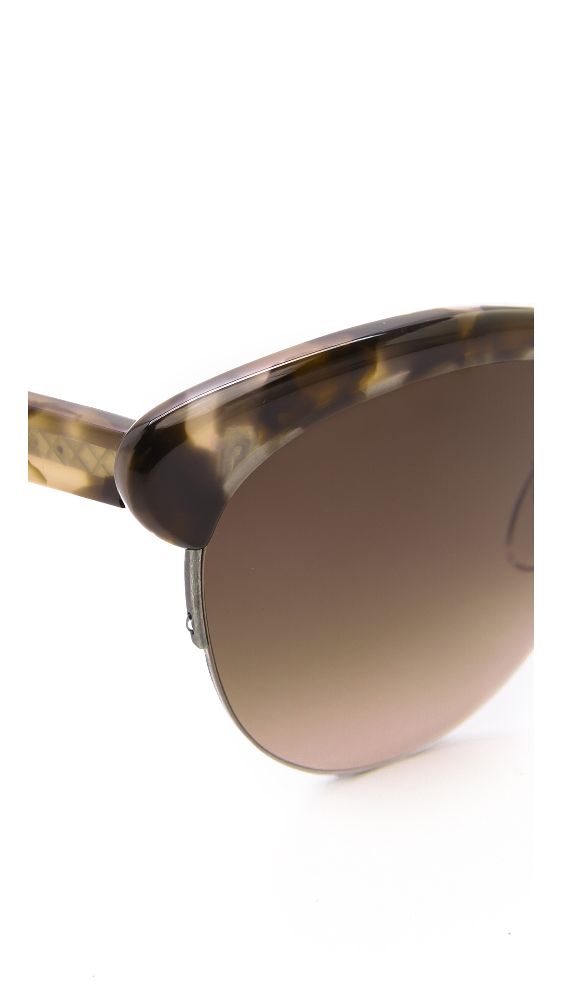 Bottom Rimless Glasses : Bottega veneta Rimless Bottom Sunglasses Havana Honeybrown ...