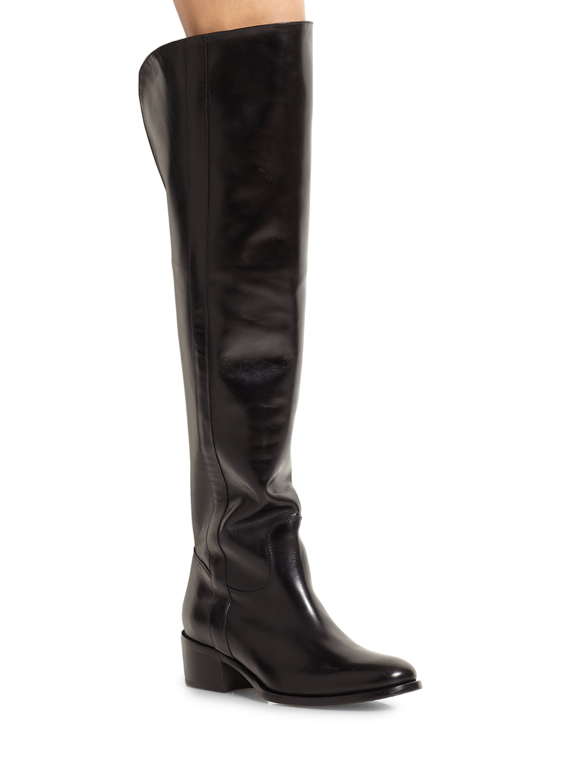 ralph lauren collection safia leather over the knee riding