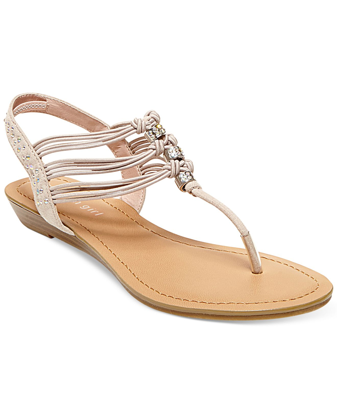 Madden Girl Thrill T-Strap Flat Thong Sandals In Pink  Lyst-6868