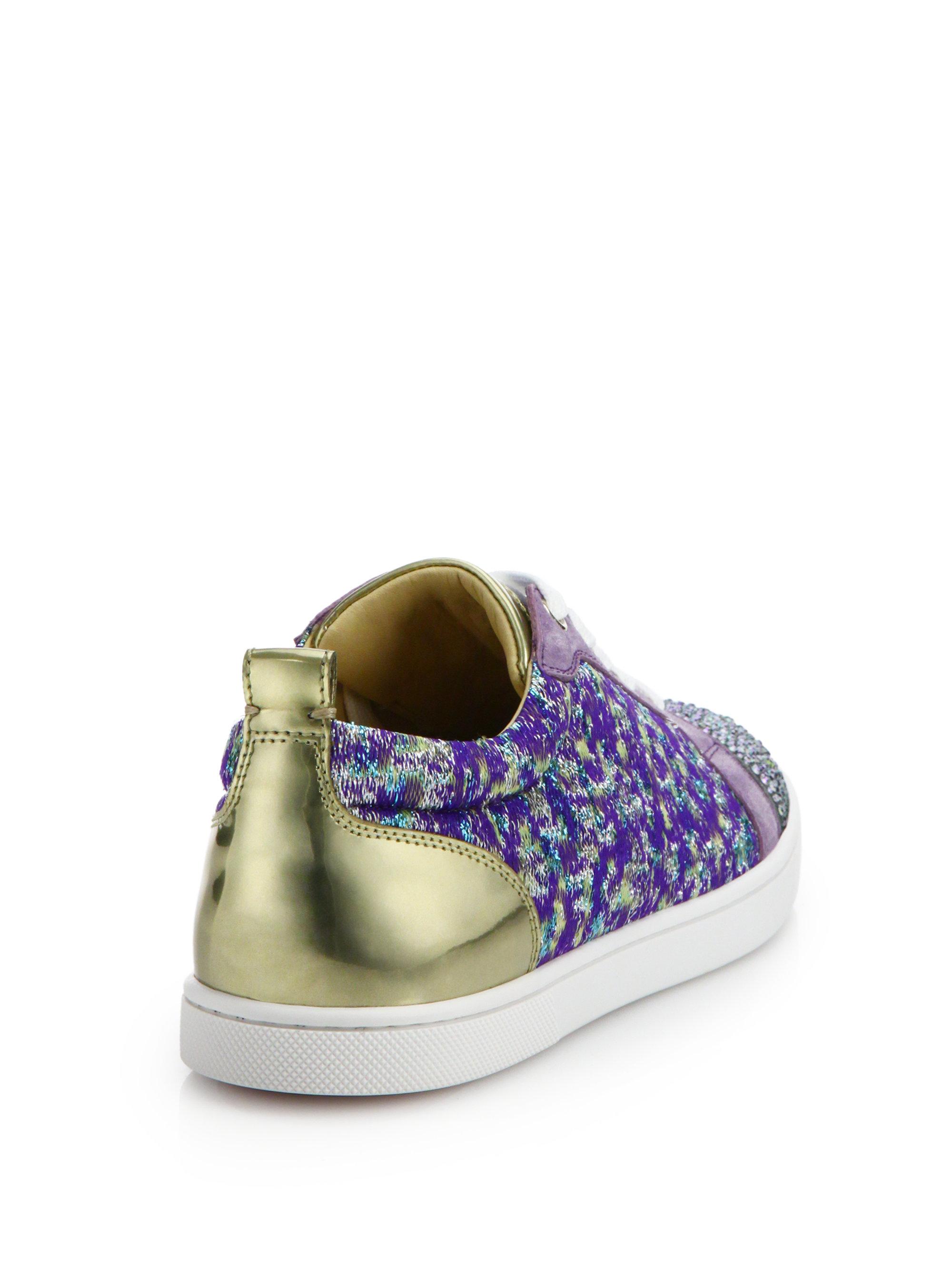 Christian louboutin Gondolastrass Low-top Sneakers in Purple ...