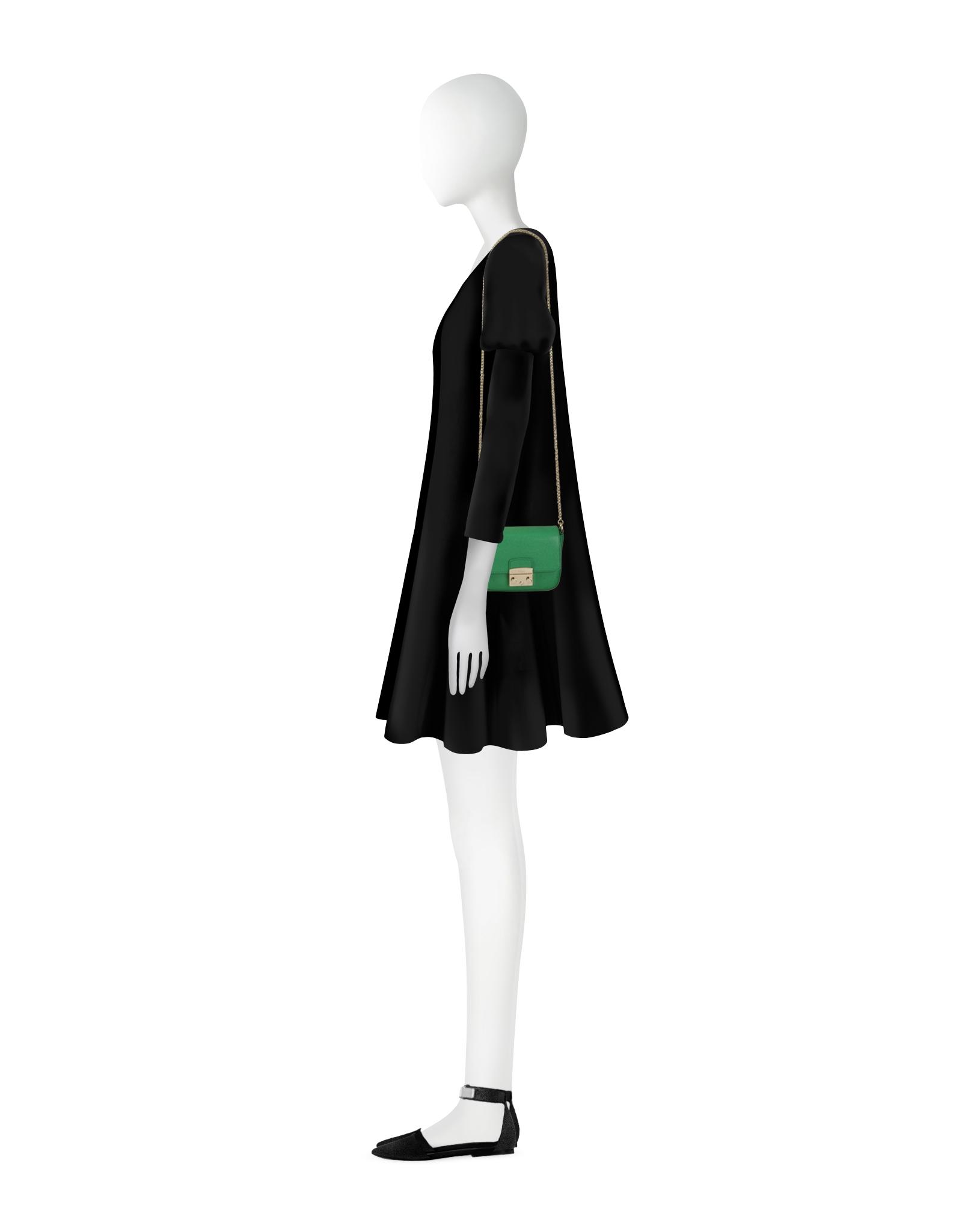 58470038af Lyst - Furla Metropolis Saffiano Leather Mini Crossbody Bag W Chain ...