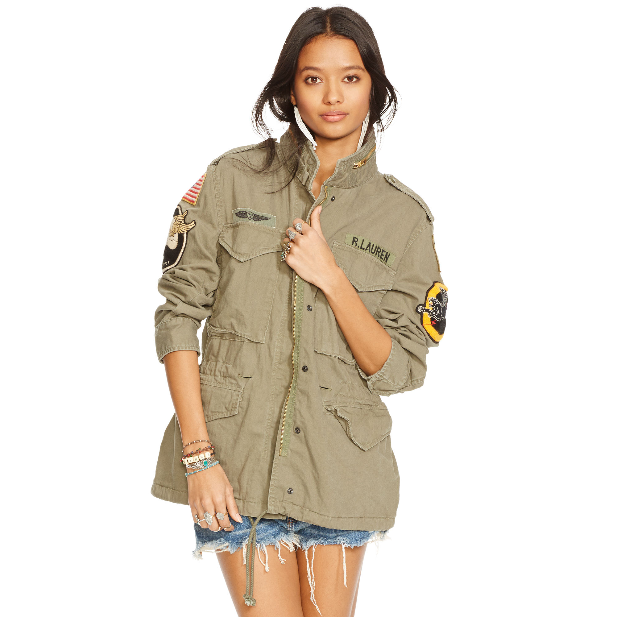 Denim   Supply Ralph Lauren Military Patches Field Jacket in Green ... 86e6d6eb9