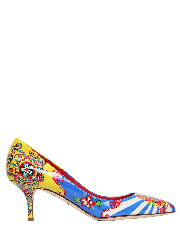 Dolce & Gabbana 60MM BELLUCCI FLORAL PATENT LEATHER PUMP CMgkS