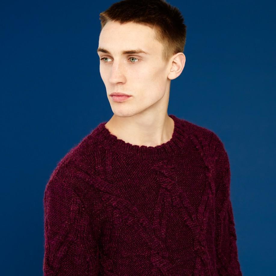 9f154687196fa3 Paul Smith Men's Damson Cable Knit Wool-alpaca Sweater in Purple for ...