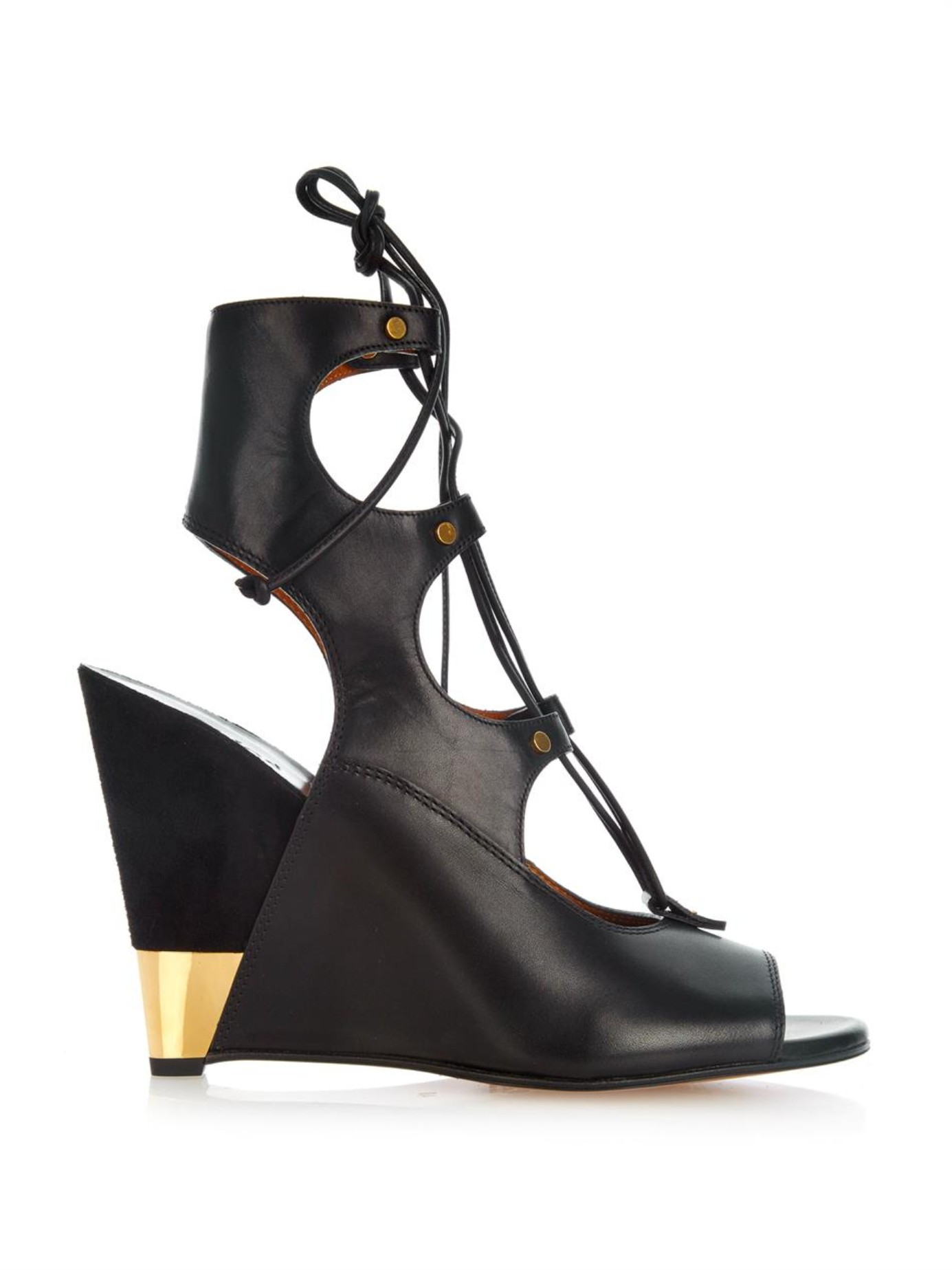 Chloé Patent Leather Slingback Wedges for nice tKQbv