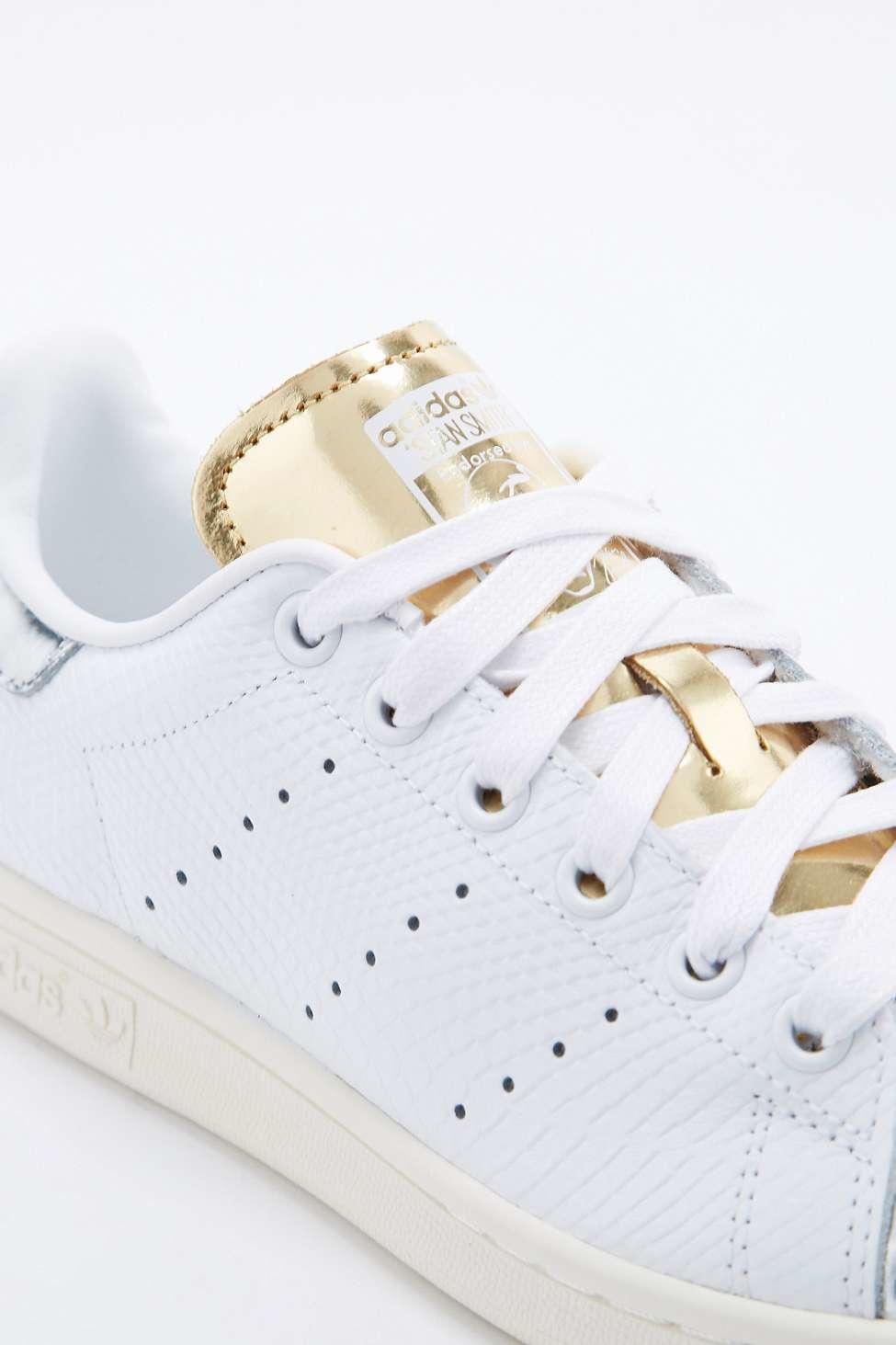 adidas stan smith silver toe trainer