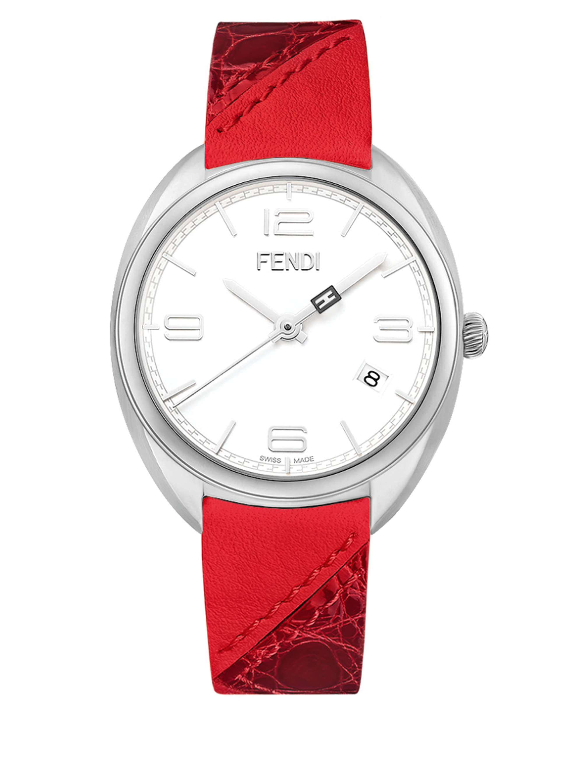 two watches plated pin and fits red the markers hands bezel gold hour with wrist thin leather