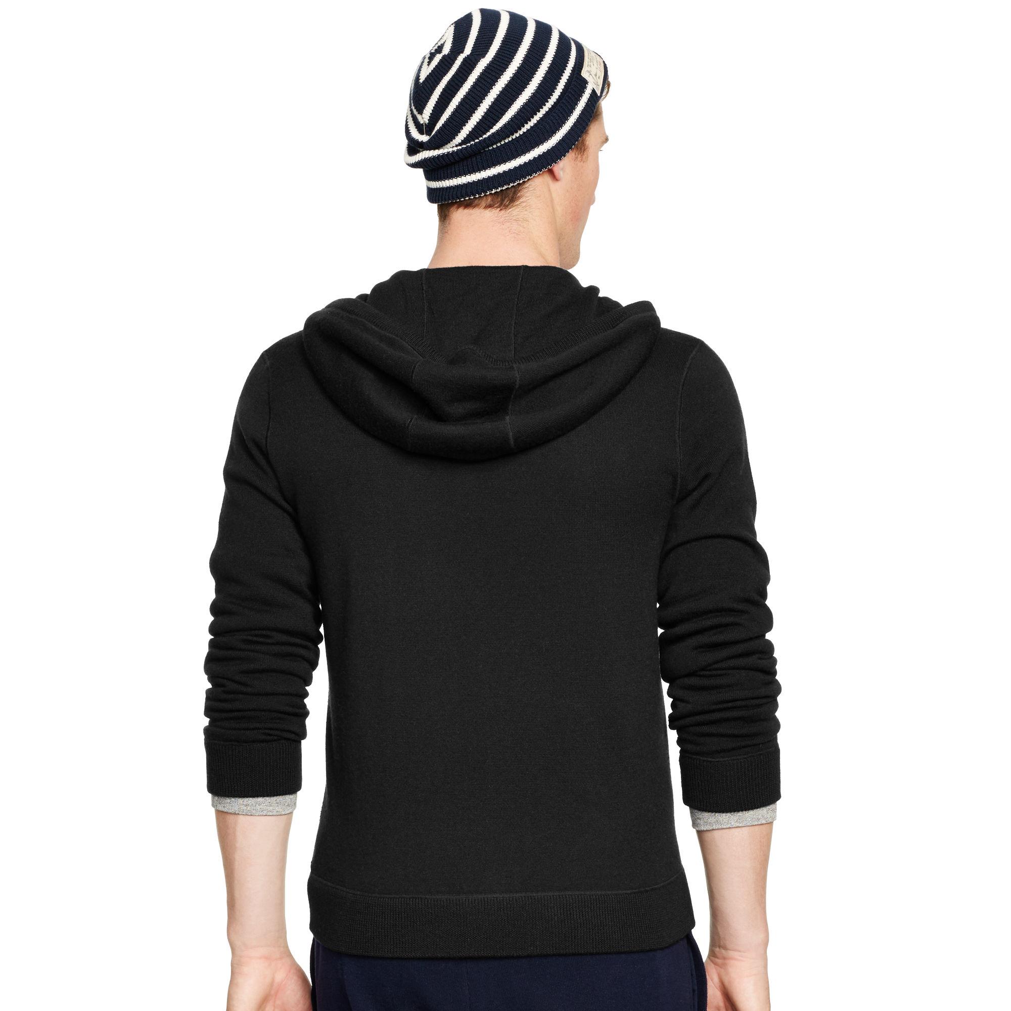 polo ralph lauren cashmere hoodie in black for men lyst. Black Bedroom Furniture Sets. Home Design Ideas