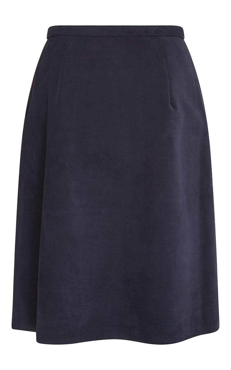 manoush leather shift skirt in blue lyst