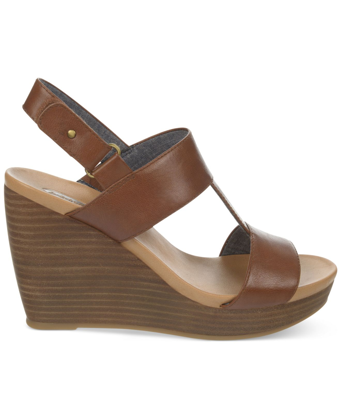 0637d5521b6c9e Lyst - Dr. Scholls Mica Platform Wedge Sandals in Brown