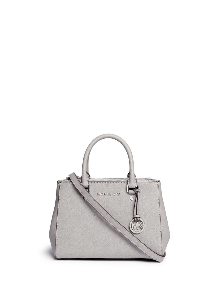 1890357051 ... where can i buy lyst michael kors sutton small saffiano leather satchel  in gray 6f536 99540