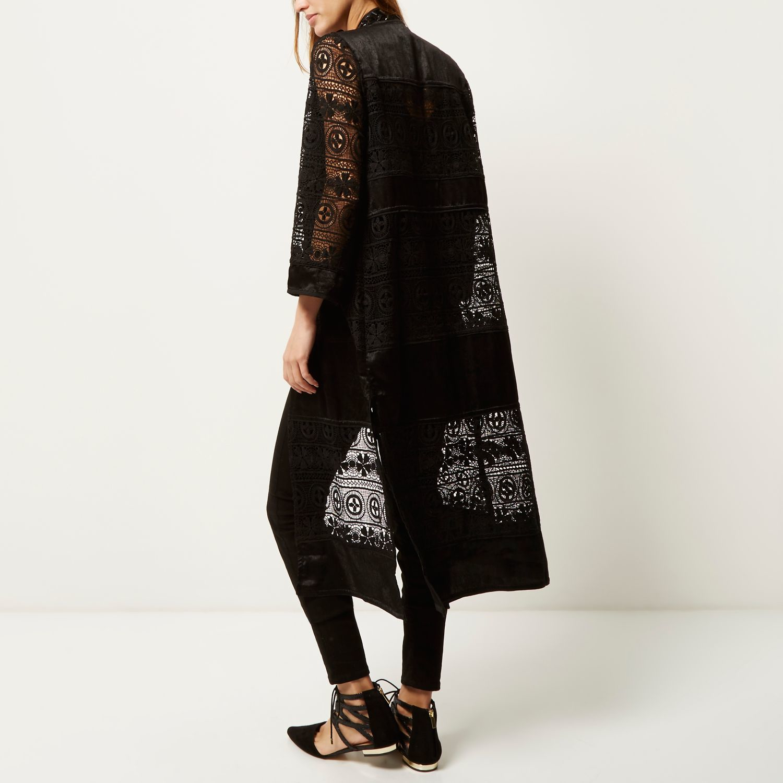 Island Black Lace Embellished In Kimono River Lyst 5HOZq