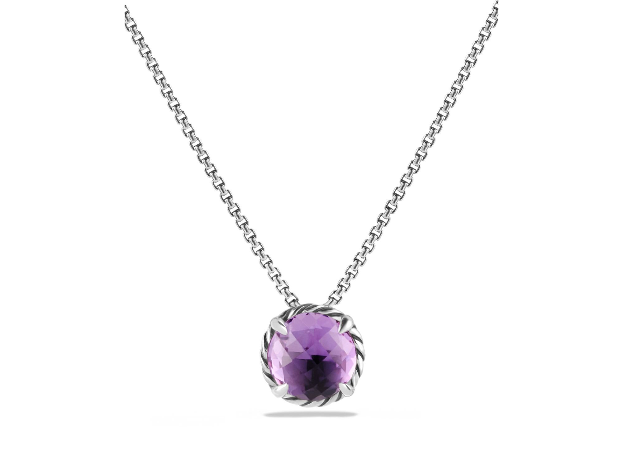 david yurman chatelaine pendant necklace with amethyst in