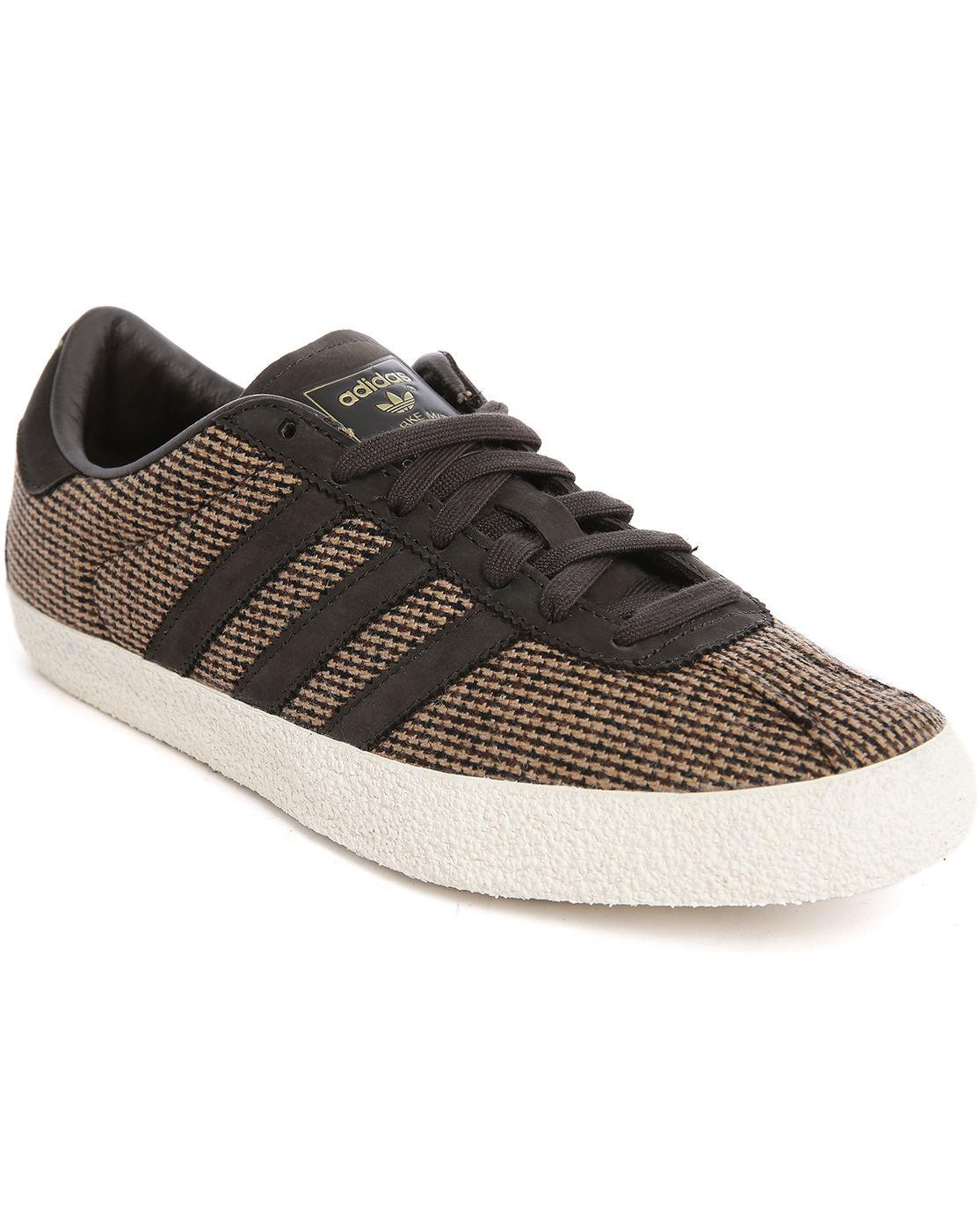 adidas originals gazelle 70s brown tweed sneakers in brown. Black Bedroom Furniture Sets. Home Design Ideas