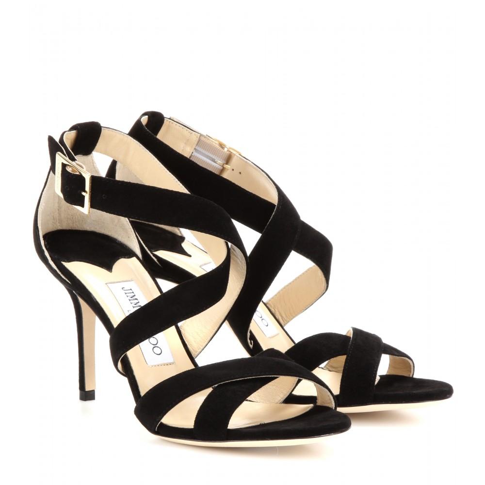 Lyst Jimmy Choo Louise Suede Sandals In Black