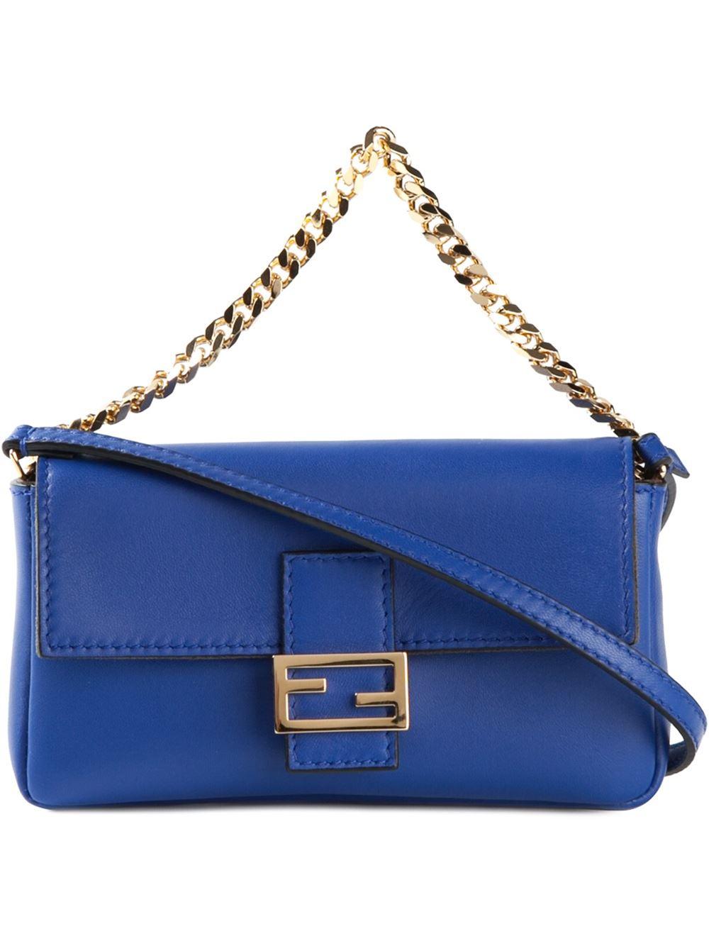 Baguette shoulder bag - Blue Fendi lO3gD4mpgK
