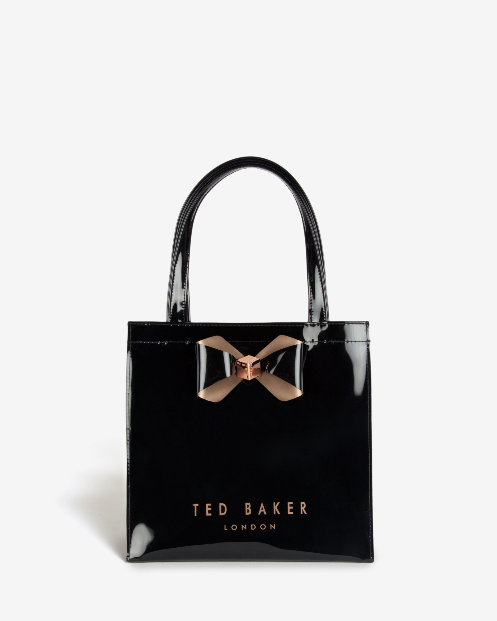 lyst ted baker bow detail small shopper bag in black. Black Bedroom Furniture Sets. Home Design Ideas
