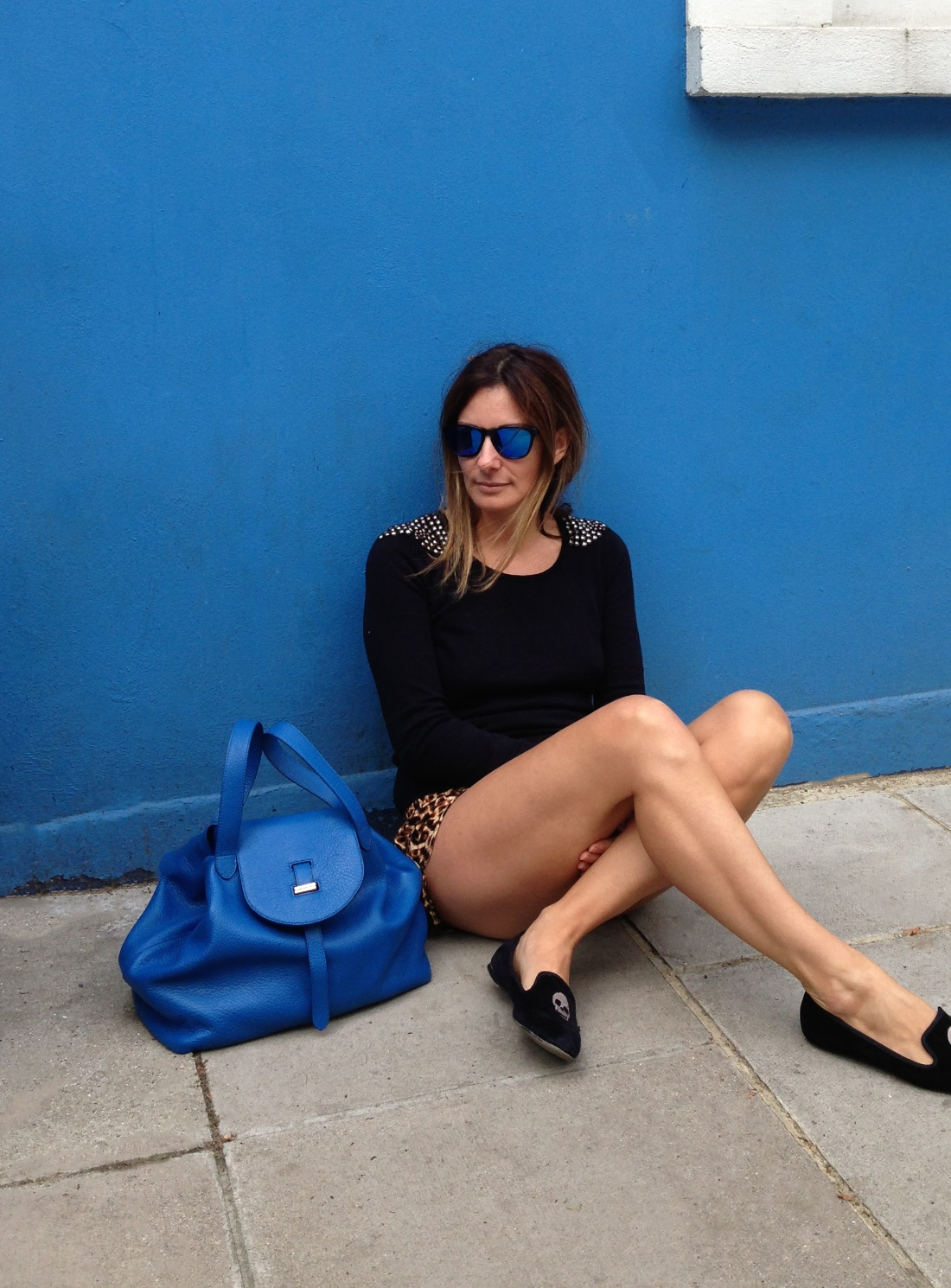 meli melo thela bag in electric blue cervo leather by in blue lyst
