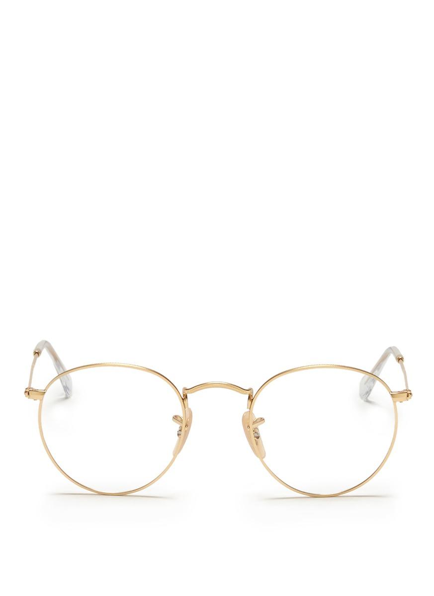 18f5ae56da Ray Ban Rx3447v 2500 Gold Metal Round Eyeglasses 50mm - Bitterroot ...