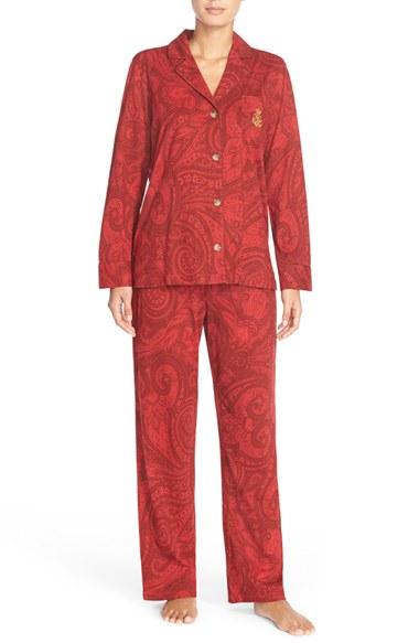 Lyst Lauren By Ralph Lauren Paisley Pajamas In Red