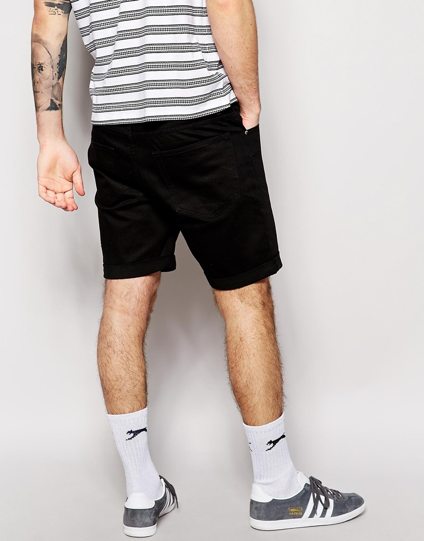 Cheap monday Denim Shorts High Cut Black in Black for Men | Lyst