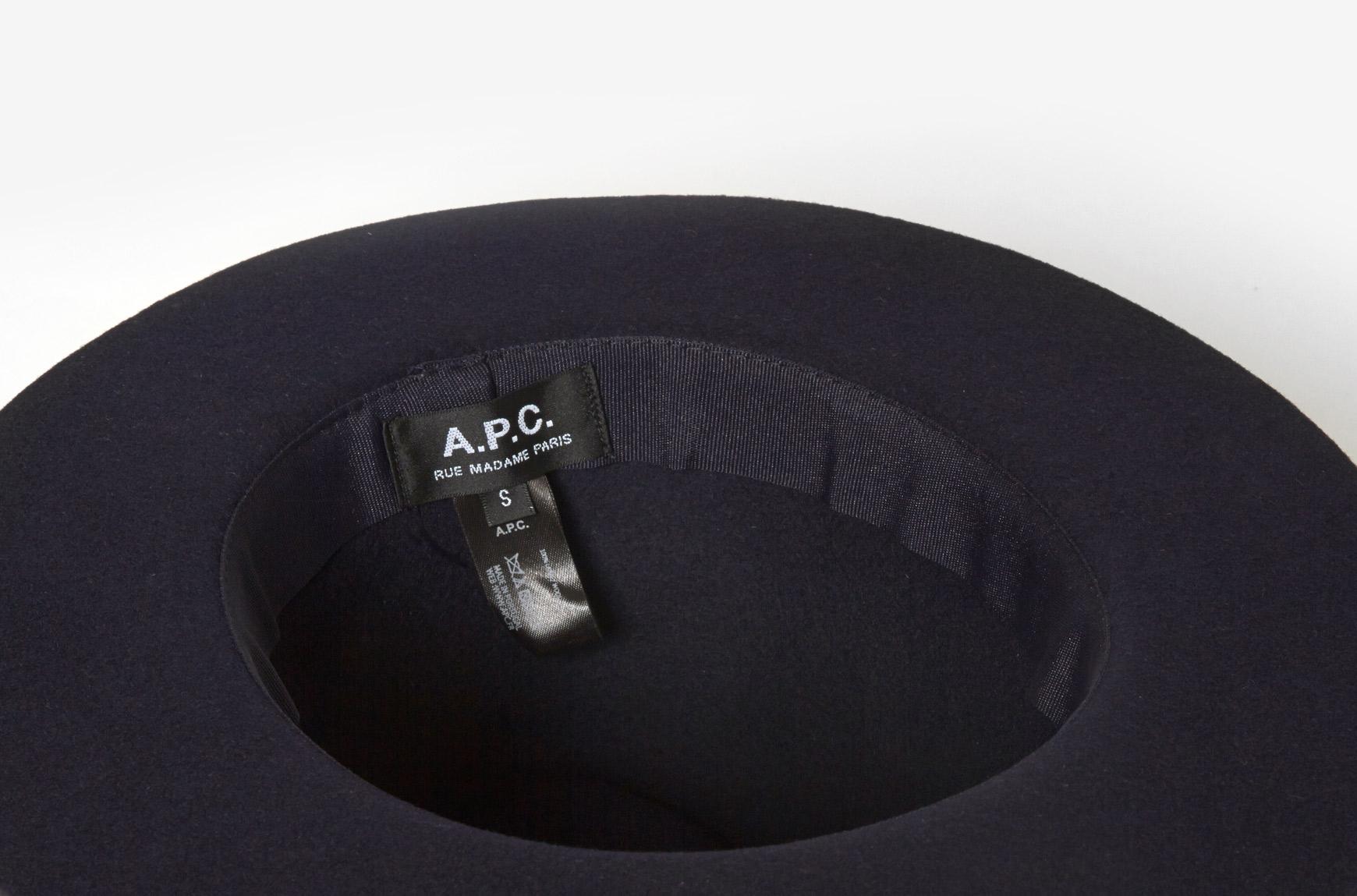 Lyst - A.P.C. Felt Hat in Blue ee0c5c504c8