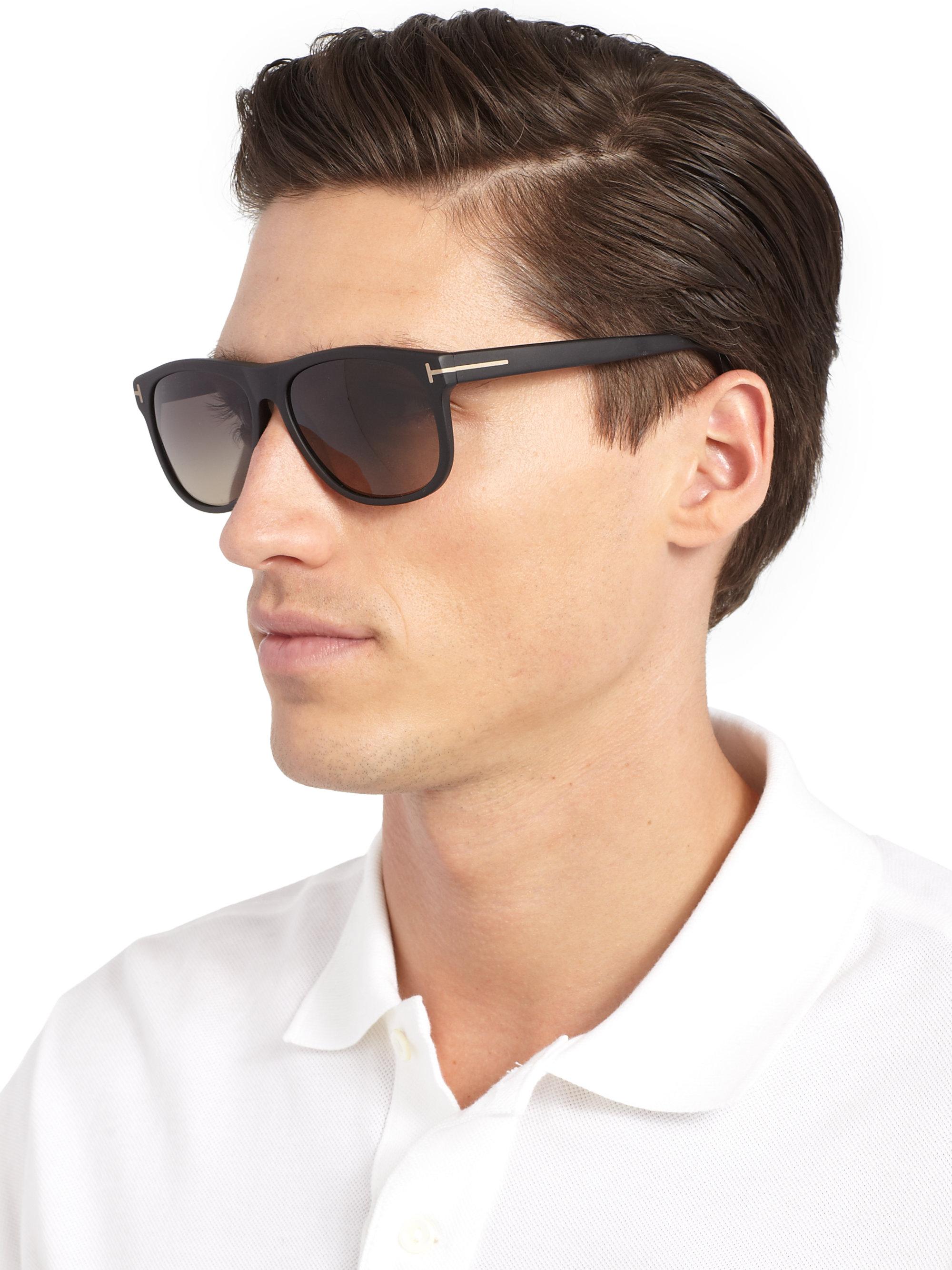 d9058e19f1b Lyst - Tom Ford Olivier Acetate Sunglasses in Black for Men