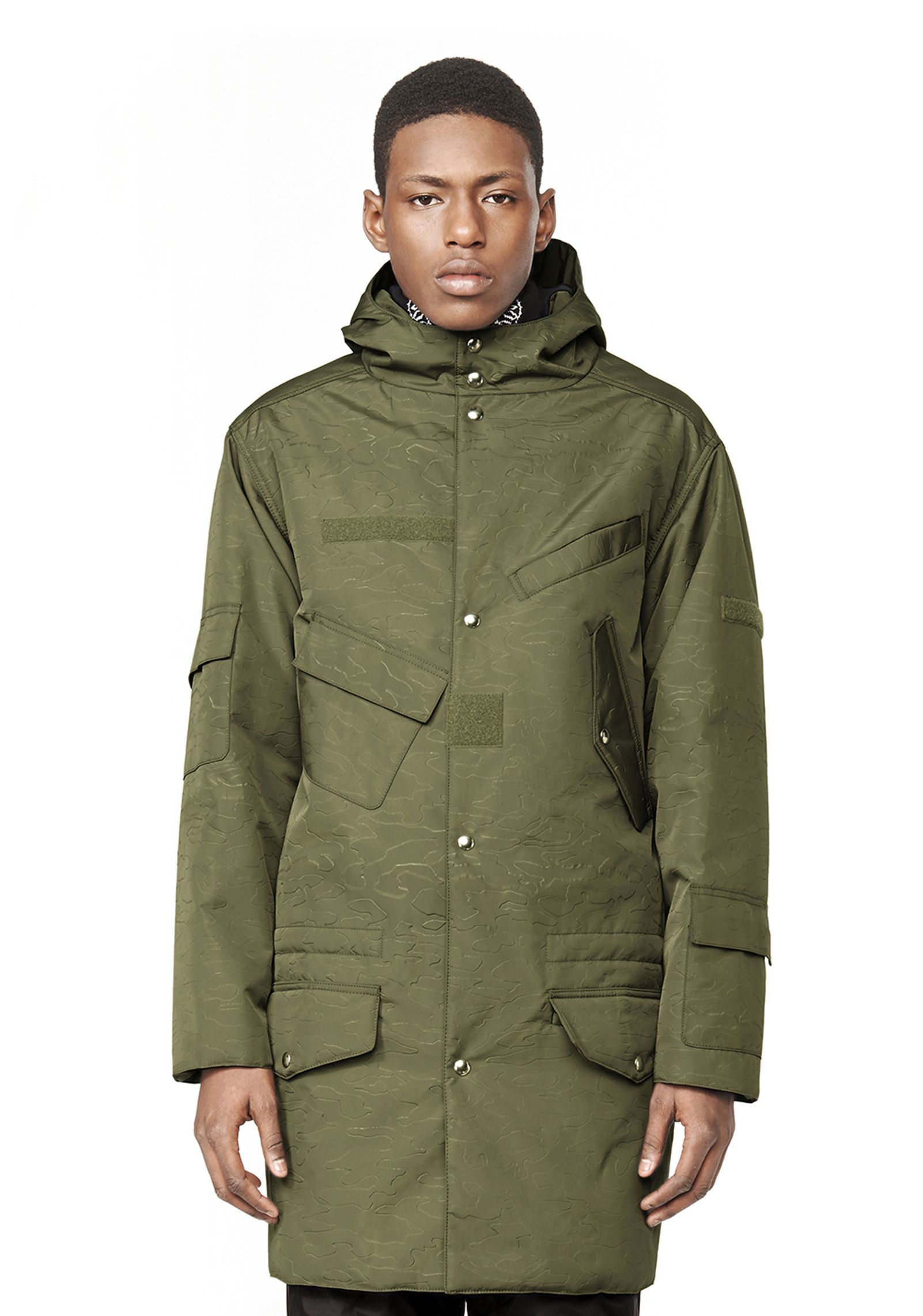 Alexander wang Hooded Military Parka in Green for Men | Lyst