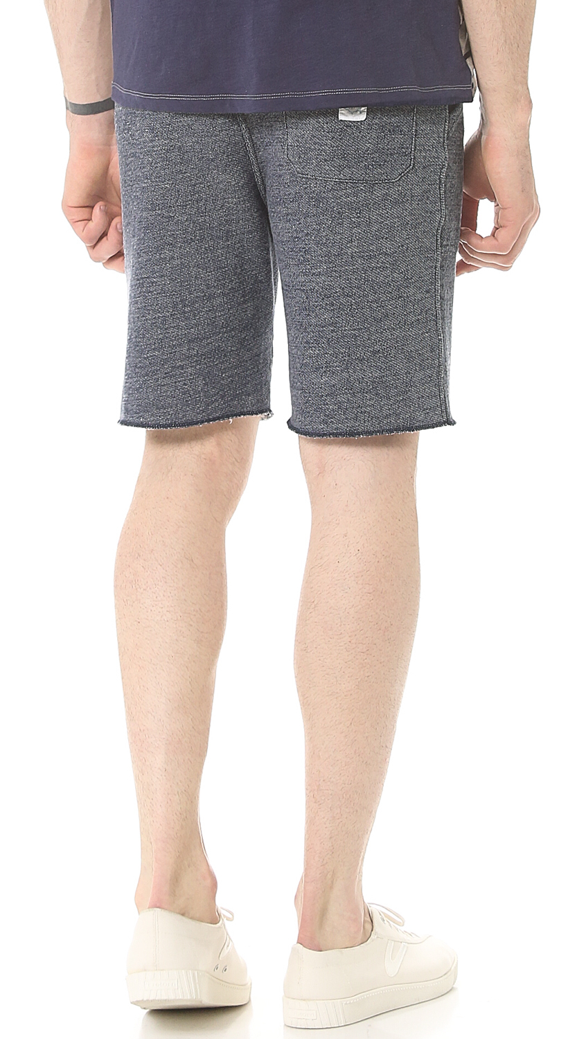 Save khaki French Terry Sweatshorts in Gray for Men | Lyst