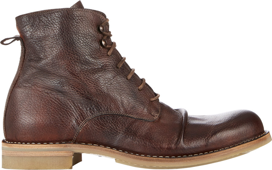 shoto wrinkled boots in brown for lyst