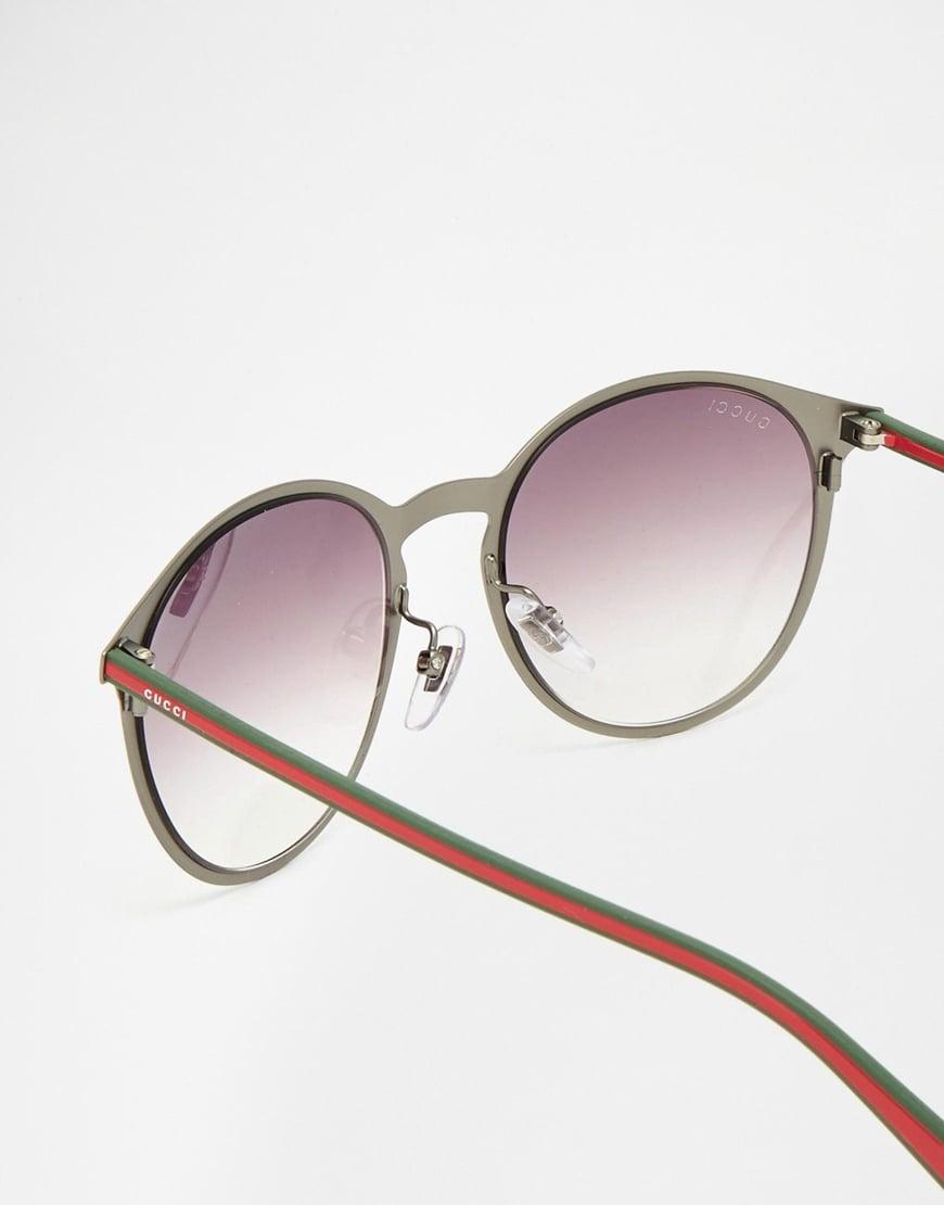 Round Gucci Sunglasses  gucci round sunglasses in gray for men lyst
