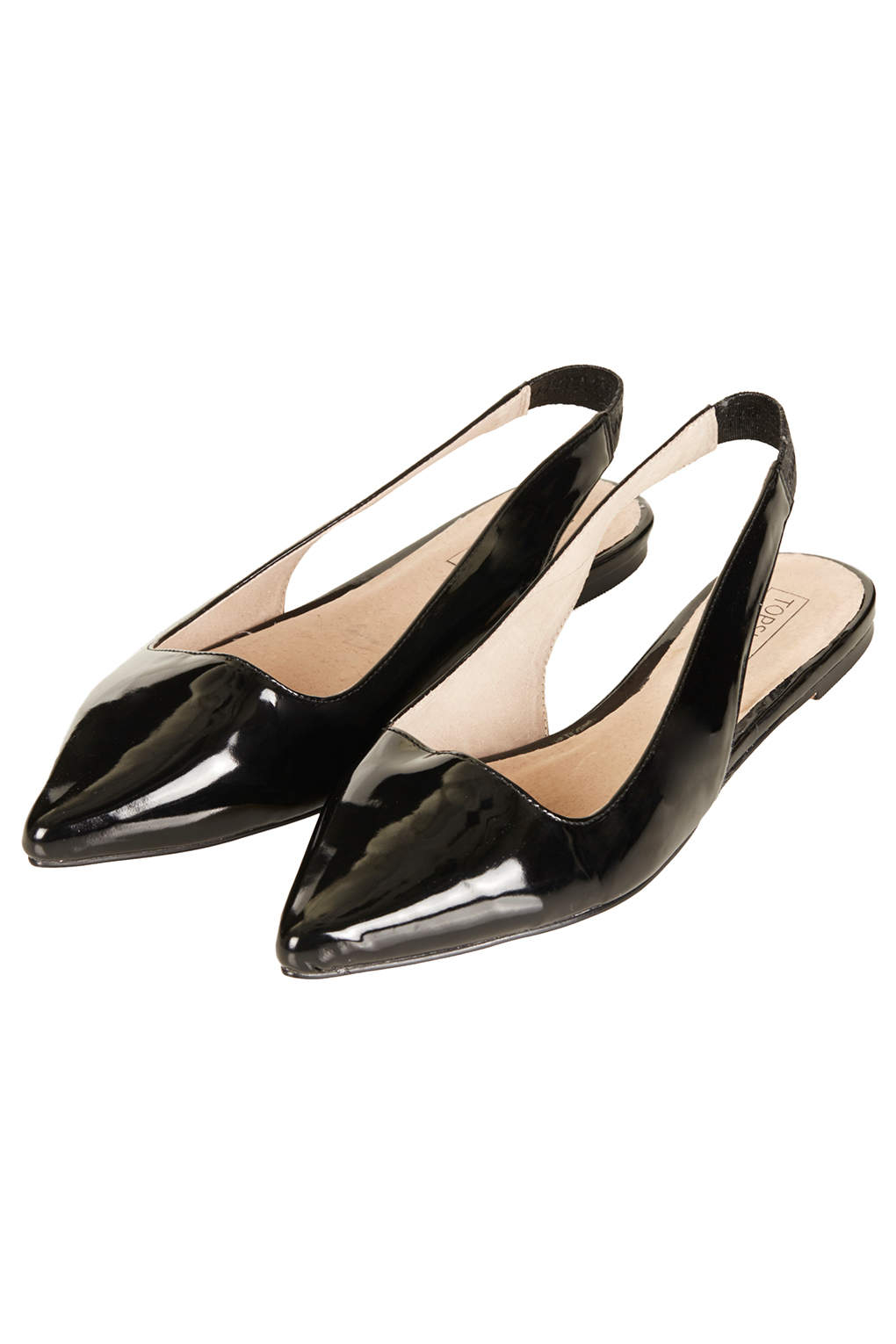 topshop pointed slingback shoes in black lyst