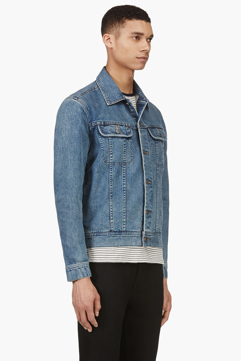 Lyst A P C Indigo Classic Denim Jacket In Blue For Men