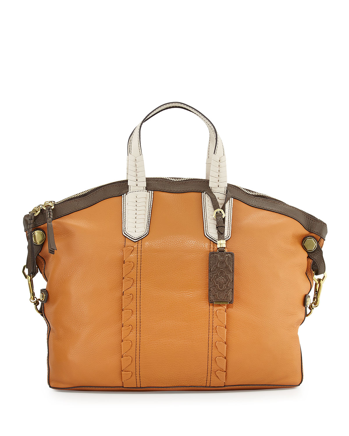 4075eb207610 Oryany Bessie Colorblock Leather Hobo Bag in Natural