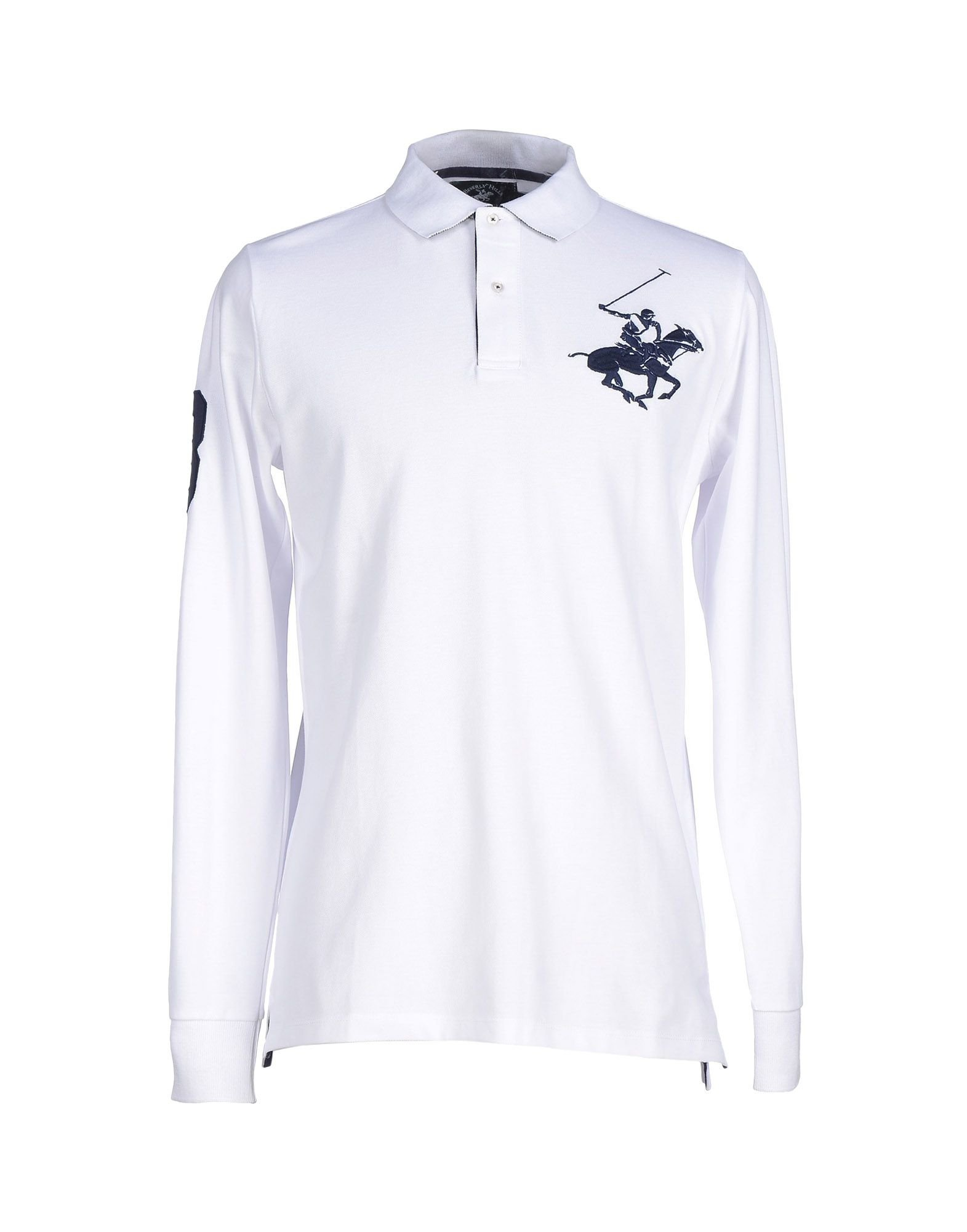 Beverly hills polo club Polo Shirt in White for Men | Lyst