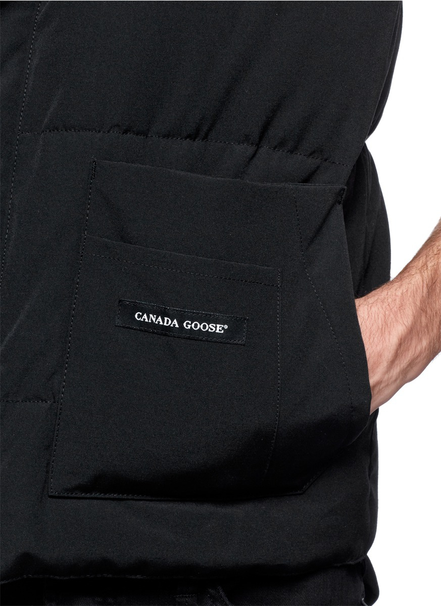 Canada Goose replica - Canada goose 'freestyle' Down Vest in Black for Men | Lyst