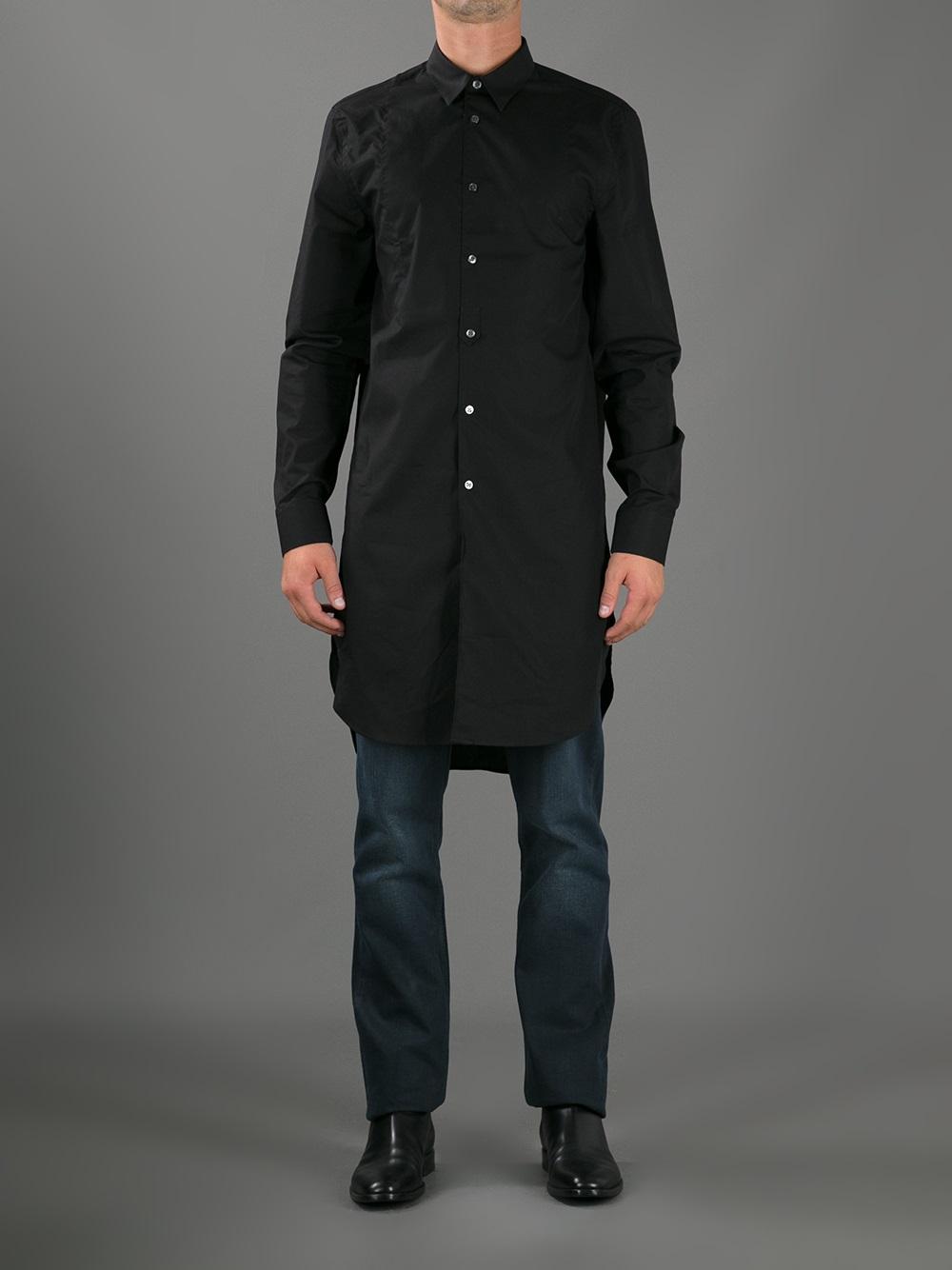 Lyst - Acne Studios Jay Extra Long Shirt in Black for Men 7552eb0686c