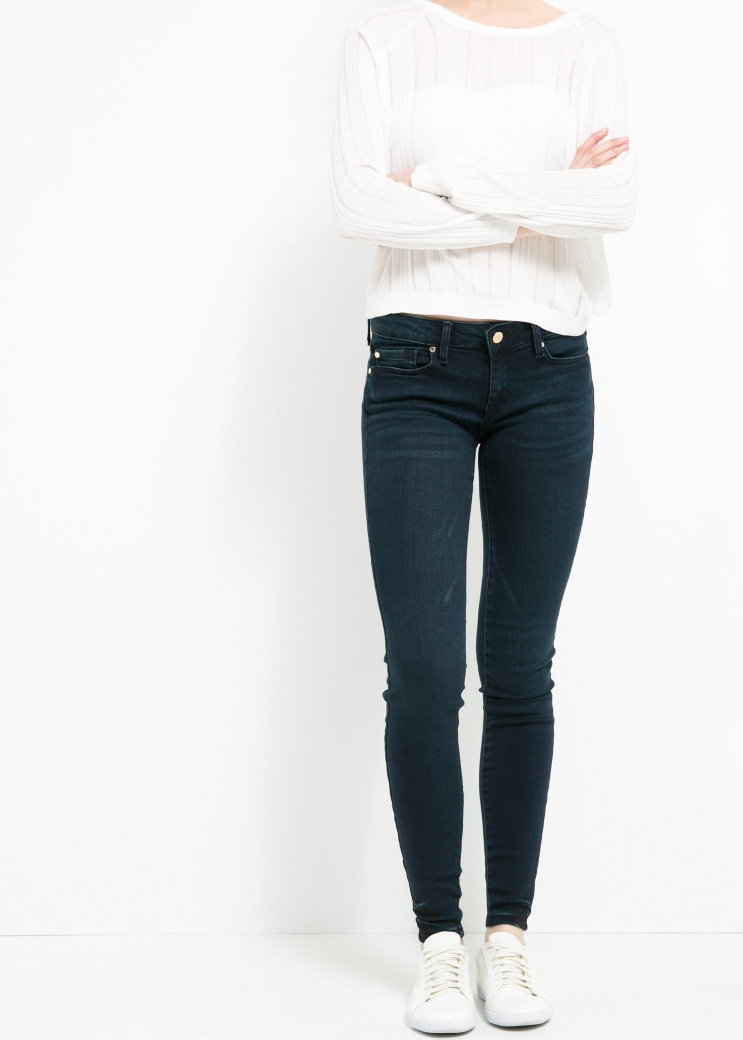 Lyst - Mango Skinny Elektra Jeans in Blue