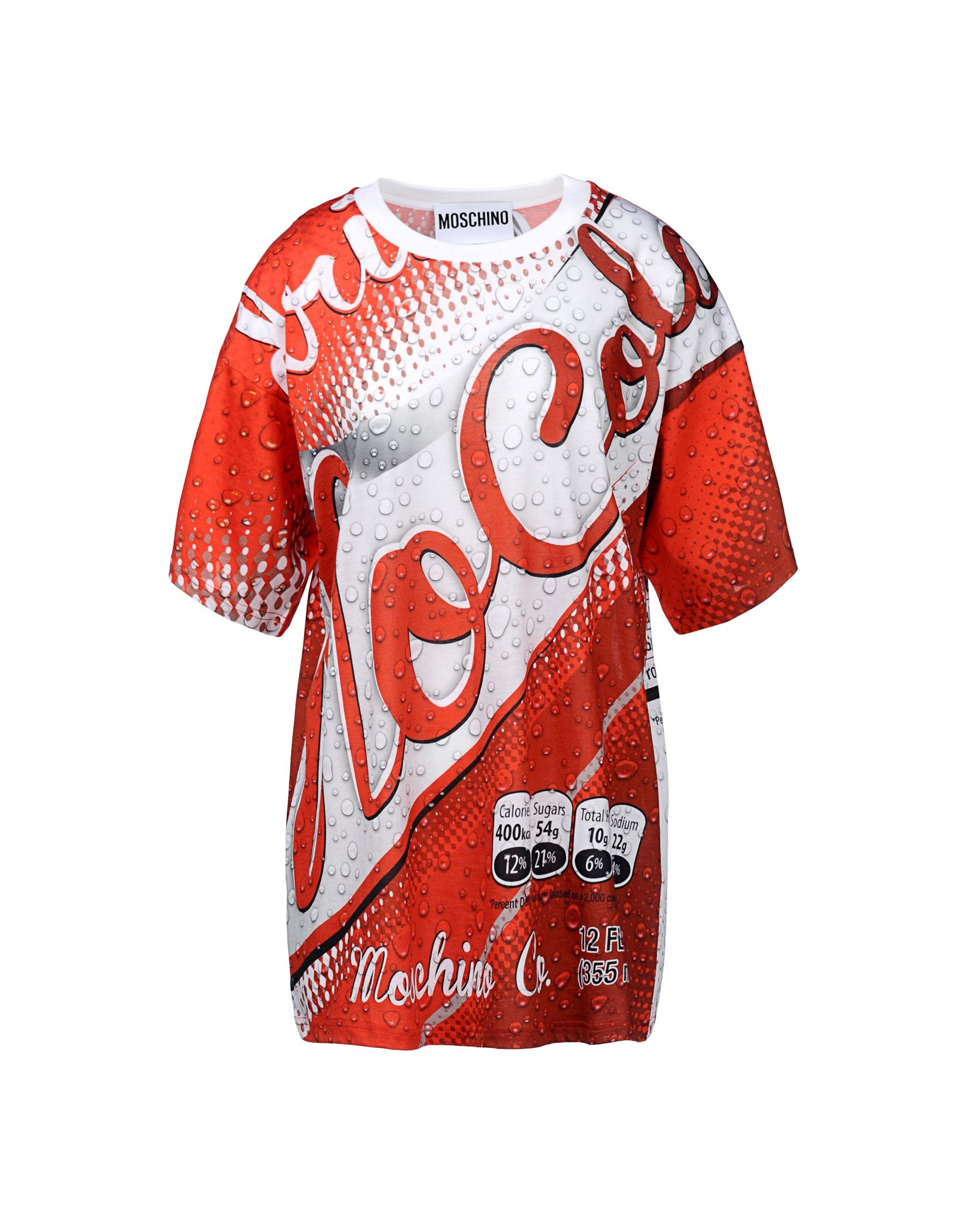 moschino 39 coca cola 39 t shirt in red lyst. Black Bedroom Furniture Sets. Home Design Ideas
