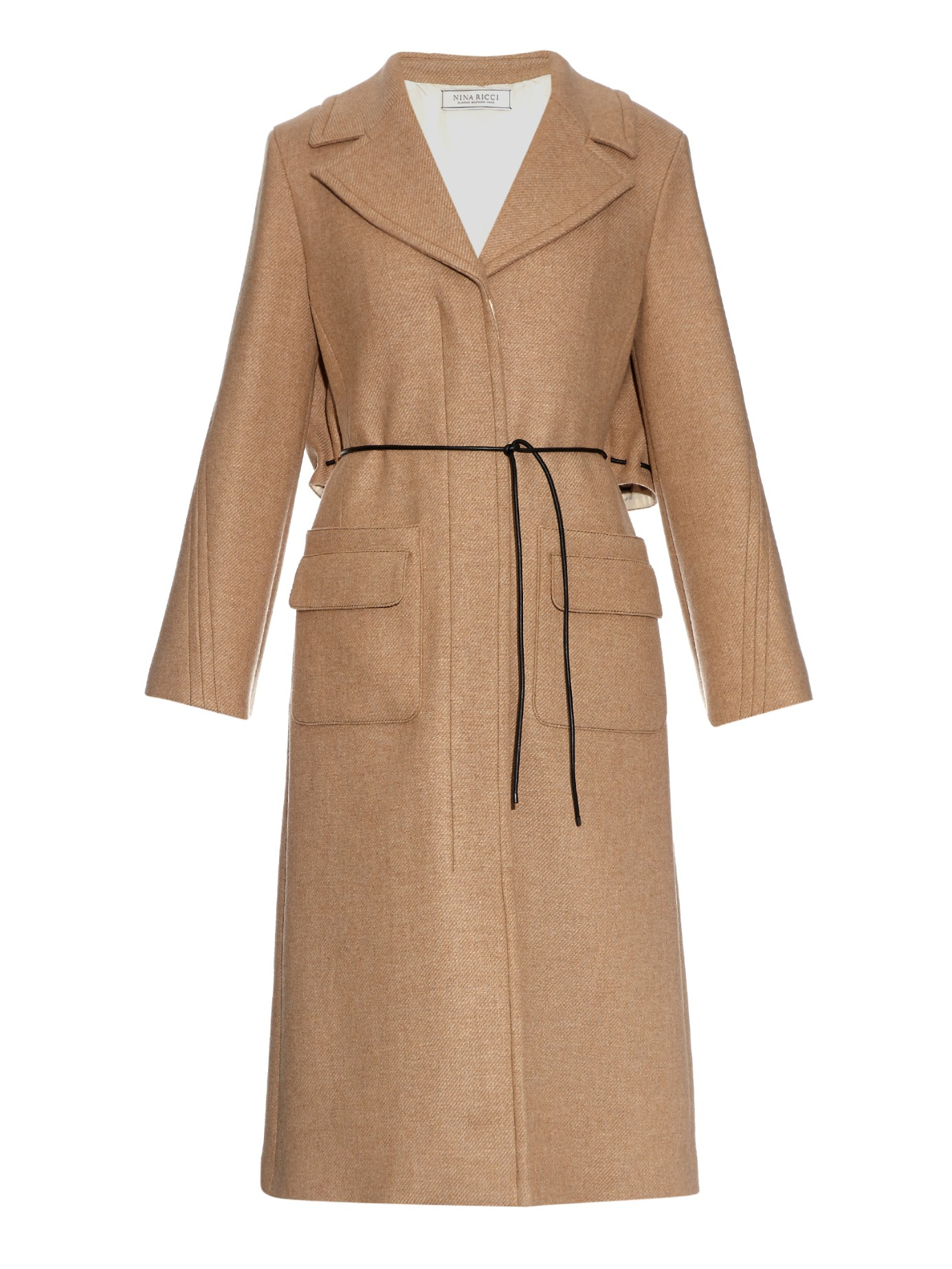 Nina ricci Wool And Cashmere-blend Coat in Natural | Lyst
