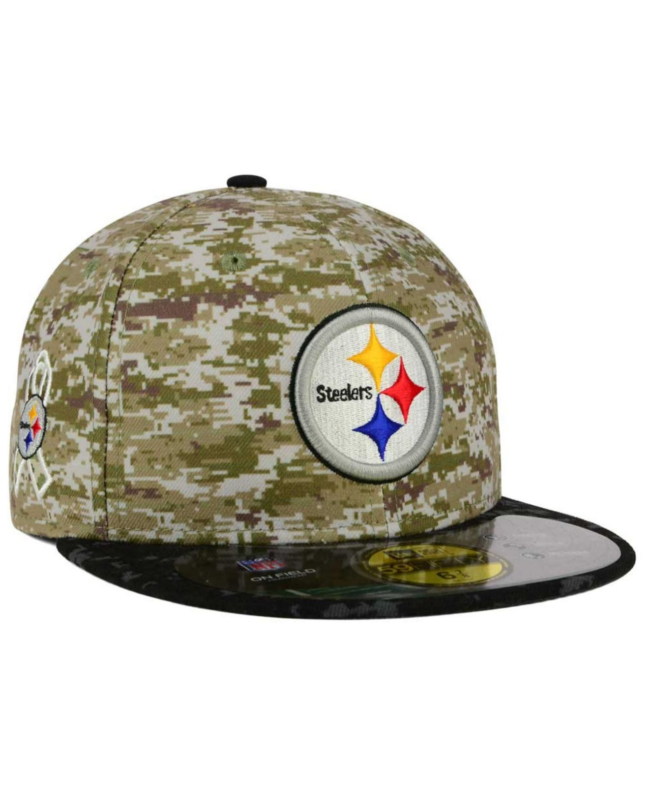 b1f596779fb Lyst - KTZ Pittsburgh Steelers Salute To Service 59fifty Cap in ...