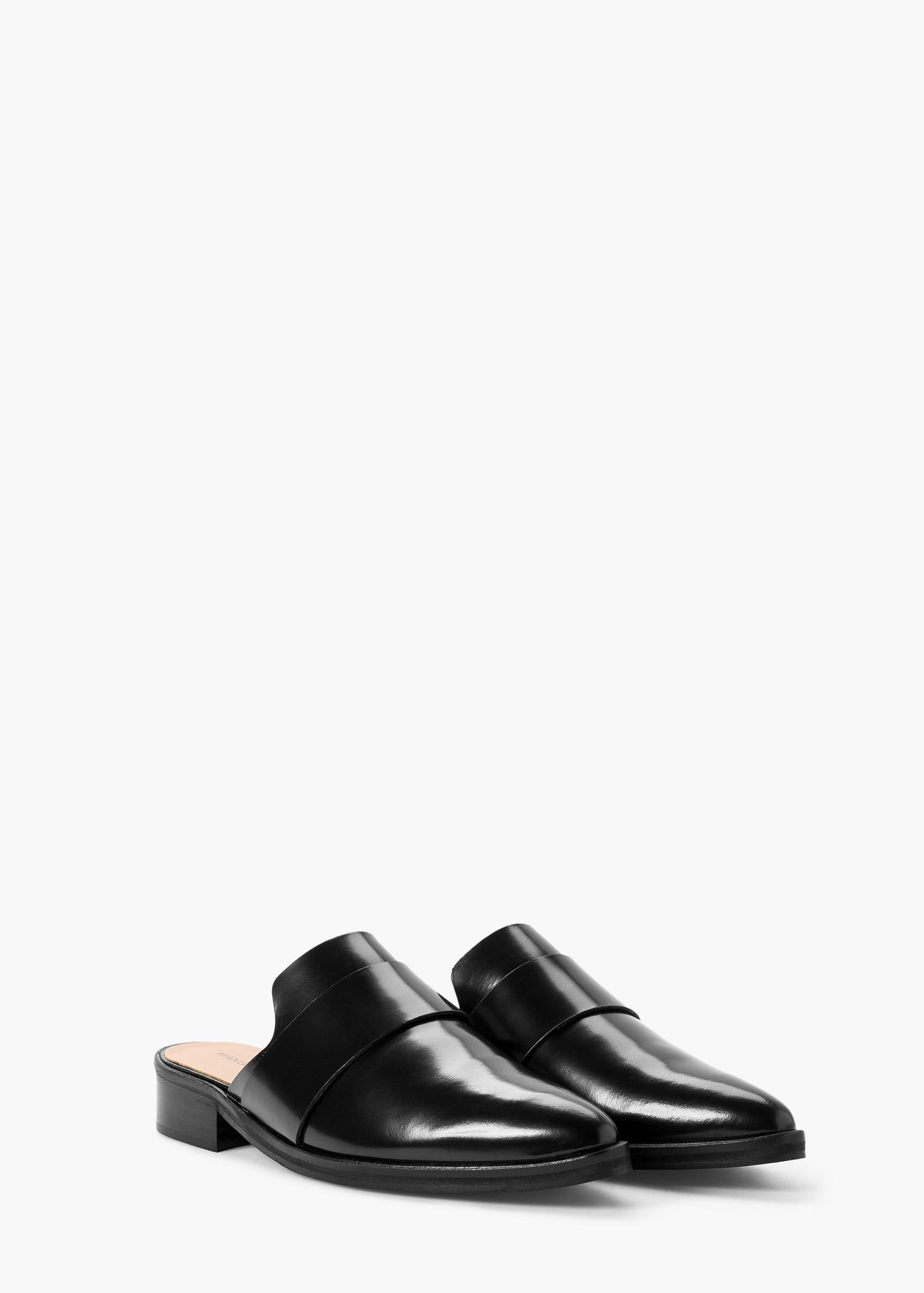 MANGO Slit leather shoes TP9ZLZ