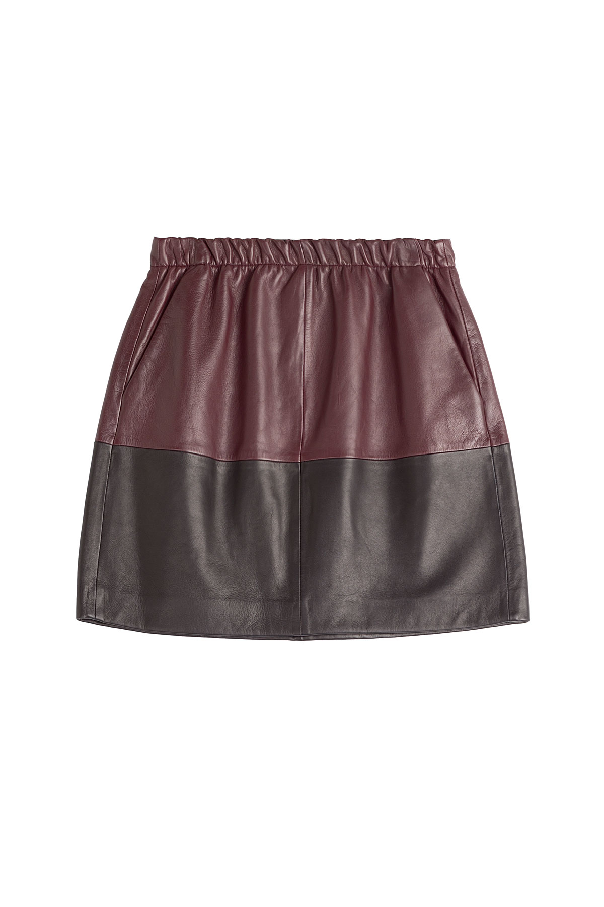 8e97c12a72 Vince - Two Tone Leather Skirt - Multicolor - Lyst