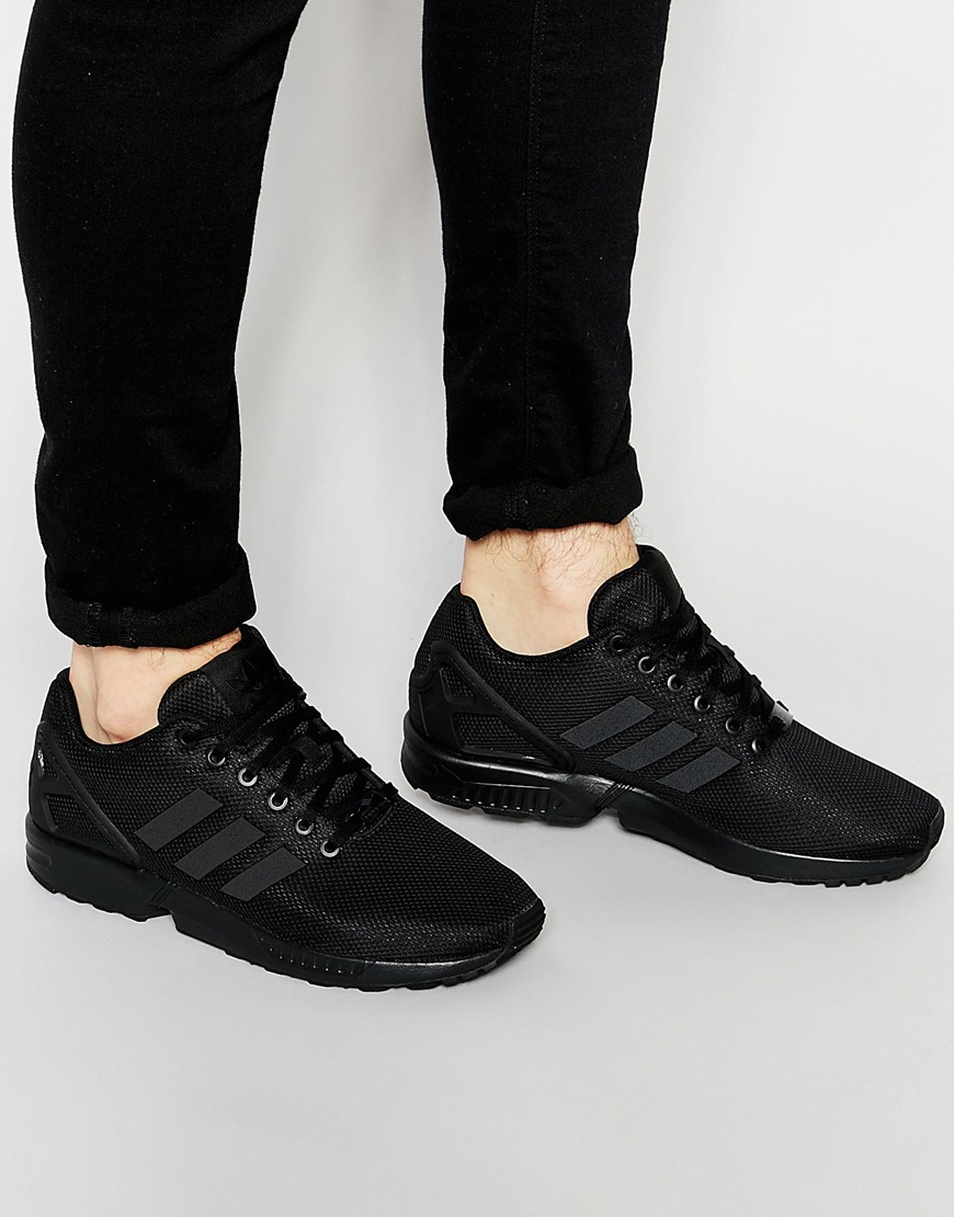 f8b70eb7e ... low price adidas originals zx flux trainers s79093 in black for men lyst  33391 f33ba