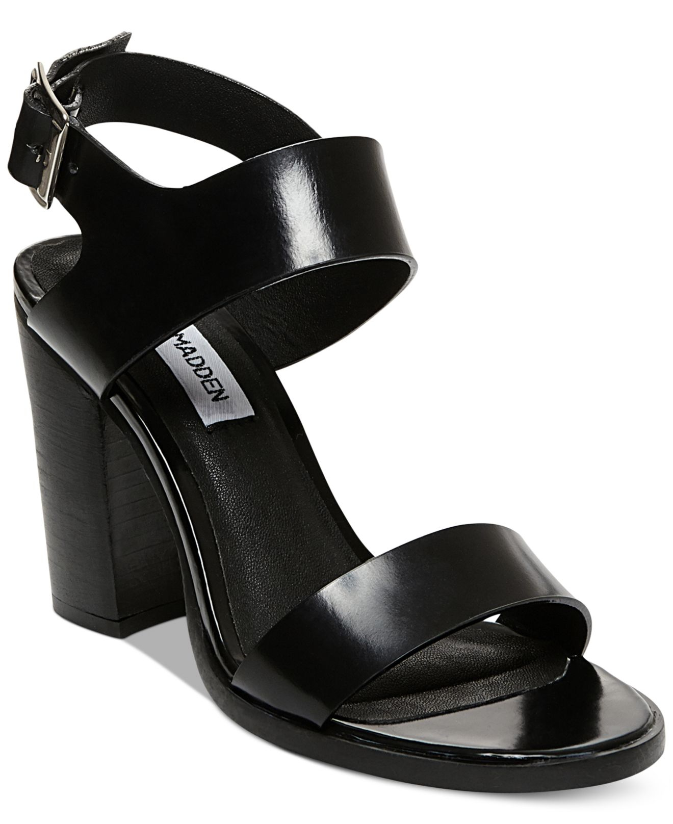 47943ac3490 Lyst - Steve Madden Women S Blaair Block Heel Sandals in Black