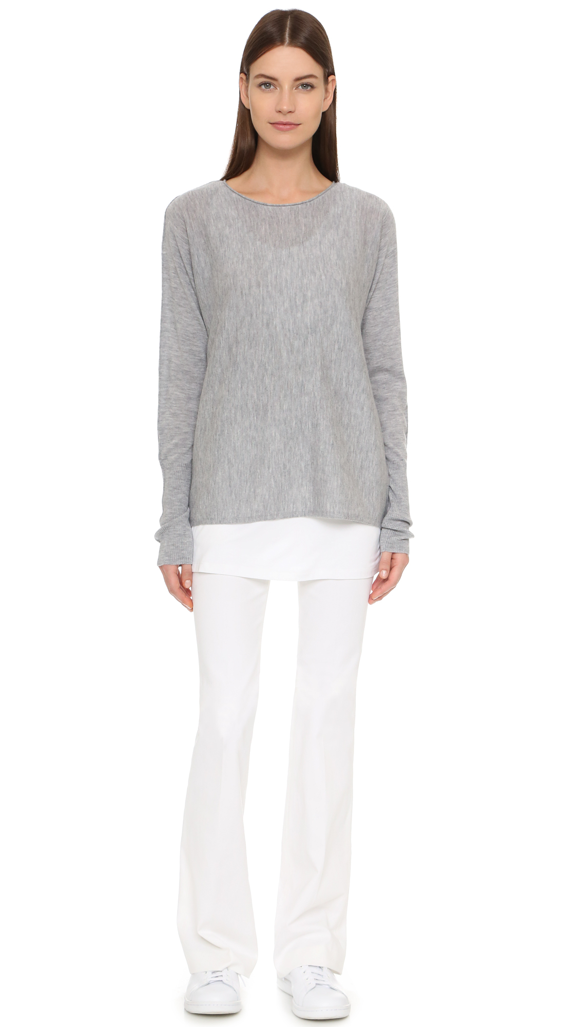 Tess Deb S Science: Tess Giberson Cashmere Slouchy Sweater In Gray