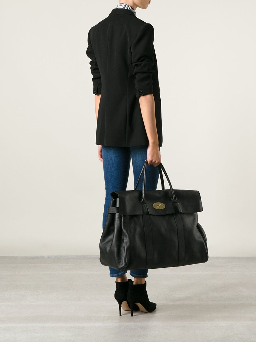 Mulberry Oversized Bayswater Bag in Black | Lyst