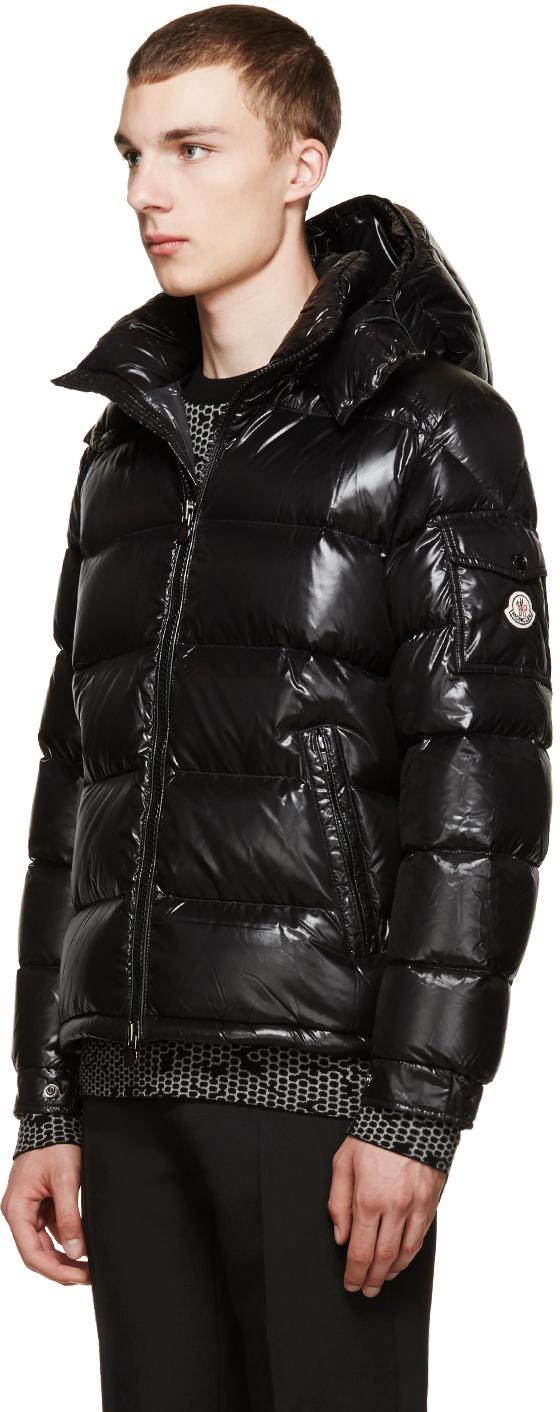 Lyst Moncler Black Down Maya Jacket In Black For Men